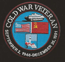COLD WAR VETERAN PATCH USS US ARMY NAVY MARINES AIR FORCE PIN UP KOREA VIETNAM