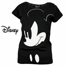 Women's Official Disney Mickey Mouse Short Sleeve T-Shirt Top LADIES 100% COTTON