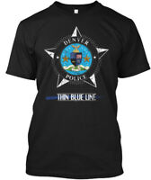 Police T Gifts Denver Color - Thin Blue Line Hanes Tagless Tee T-Shirt