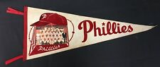 Vintage Philadelphia Phillies Felt MLB Baseball Pennant With 1960 Team Photo
