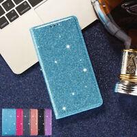 Magnetic Flip Case Slim Bling PU Leder Kart Hülle Für Samsung iPhone 11 Pro Max