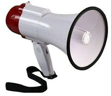 Megaphone Handheld Very Loud 20w - Pistol Grip with Wrist Strap - Red/White