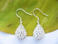 Orecchini di lusso con gemme pendente in argento sterling