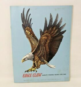 VTG 1983 Eagle Claw Quality Fishing Tackle Equipment Fish Hooks Rods Catalog