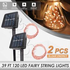 39Ft Solar Powered 120 Led 12M Fairy String Light Xmas Garden Wedding Party Deco
