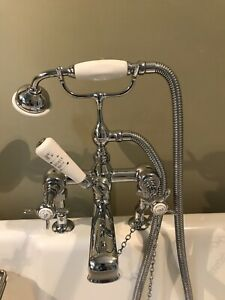 Lefroy Brooks Deck Mounted Shower And Mixer Taps