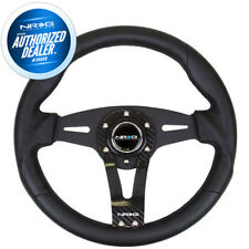 NEW NRG Steering Wheel Black Leather w/ Real Carbon Fiber Face 320MM  RST-002RCF