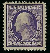 US George Washington 3 (three) cents deep violet stamp & 8 other used stamps