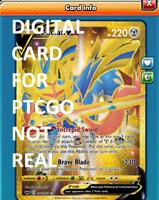 DIGITAL Zacian V  Secret Rare pokemon tcg online