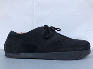 Kalso Earth Faroe Lokah Comfort Black Suede Leather Classic Oxfords Mens Sz 12