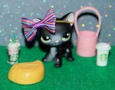 🌷Lps Shorthair 336 Rare And Retired Littlest Pet Shop Black Cat Green Eyes🌷