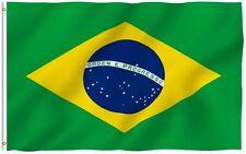 Brazil Brasilian 3' x 5' Flag w/ Grommets to Hang Pride Country Soccer Banner