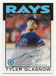 2021 Topps Series 1 TYLER GLASNOW 1986 Autograph Auto Tampa Bay Rays 86A-TGL