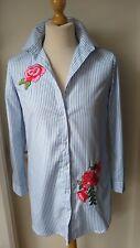 Ivivi Shirt Blouse Short Shirt-dress Size 12 - 14 Ladies Womens Blue White Red