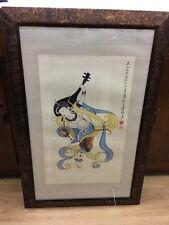 Vecchia Stampa Giapponese Acquerellata A Mano circa 1940