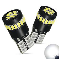 2x 24SMD LED T10 194 2825 168 Map Dome License Plate Light Bulbs Super WHITE W5W