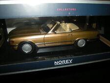 1:18 NOREV Mercedes-Benz 300 SL w107 1986 Oro N. 183514 OVP