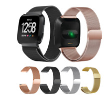 For Fitbit Versa 2 Replacement Metal Milanese Band Strap