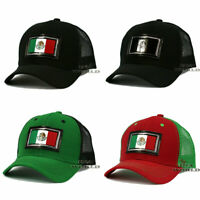 Mexican hat Mexico Flag Patched Pique Snapback Mesh Curved bill Baseball cap