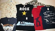Gymboree Boys Short Sleeve T-Shirts Button Down Top Lot Size 4-6