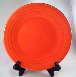 Fiestaware Poppy Lunch Plate Fiesta Orange 9 inch Luncheon Plate