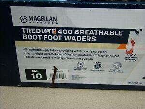 Magellan Men's Tredlite 400 Breathable Boot Foot Wader SZ 10