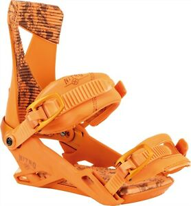 Nitro Zero Snowboard Bindings Large (US Men's 11-14) Orange New 2022