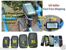 Waterproof Motorcycle Bike Cycling Handlebar Mount Holder Cell Phone Case Pouch