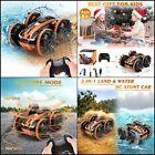 coche Barco juguete anfibio RC con control remoto volteretas 360 para niños y ni