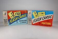 Vintage Flash Cards Milton Bradley 2 Boxes w/ Parker Brothers Color Brochure