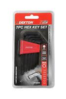 Dekton Black Allen Keys Set, Hex Key Set 7 Pcs