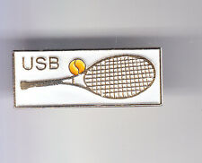 RARE PINS PIN'S .. TENNIS ROLAND GARROS RAQUETTE BALLE USB VERSION BLANCHE ~CP