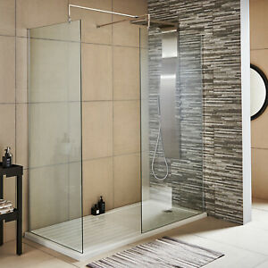 Walk In Shower Wetroom Screens 1850mm high x 8mm & Shower Walk-in Trays