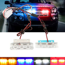 6LED Strobe Warning Flash Truck Traffic Beacon Light Blue Amber White Red 12V-36