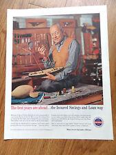 1959 Insured Savings & Loan Associations Ad Model Boat Building Wood Carving