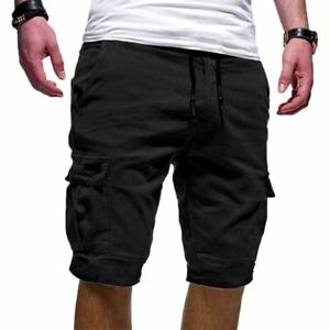 Misaky Mens Casual Causal Pocket Beach Work Short Trouser Cargo Shorts Pant