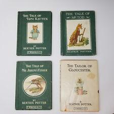 BEATRIX POTTER Lot of 4 Books Mr Tod Jeremy Fisher Tom Kitten Tailor Gloucester