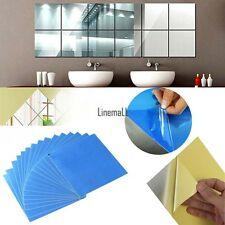 16pcs Decorative Mirror Self-adhesive Tiles Mirror Wall Stickers Mirror Decor