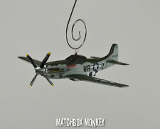 WWII Fighter P-51 Mustang USAF Christmas Ornament Airplane Single Prop P51