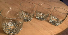 8 oz Glass Drinkware Heavy Bottom Made in Italy Set OF 4 Whiskey Glasses!