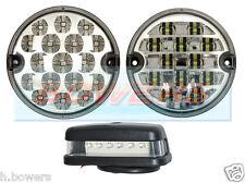 Land Rover Transparente Traseras Led Niebla inversa matrícula Lámpara Luz actualización Rdx Wipac
