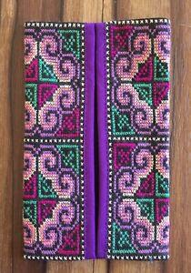 Thai embroidered fabric tissue holder