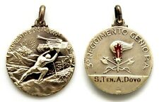 Medaglia In Argento 800 3° Reggimento Genio P.A. Nominativa cm 2,6 Peso g 8,5
