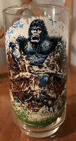 Vintage 1976 Coca Cola Burger Chef King Kong Skull Island Dino Glass Great Shape