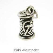 925 Sterling Silver Spool of Thread Charm Made in USA
