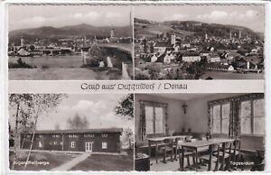 Ansichtskarte Deggendorf/Donau - Ortsansicht/Jugendherberge/Tagesraum - s/w
