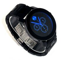 MOVADO $750 MEN'S BLACK, BLUE ACCENTS CHRONOGRAPH BOLD SWISS WATCH 3600101