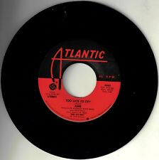 "ABBA! - ""TOO LATE TO CRY"" B/W ""WALK ON BY"" ATL ST 45 EXCELLENT VPI CLEANED!"