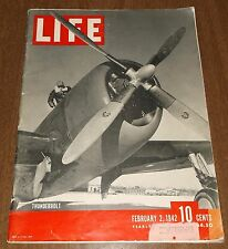 February 2, 1942 Issue Time Magazine - P47 Thunderbolt Plane Cover WWII Era