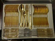 SBS BESTECKE SOLINGEN 23/24 Carat Hard Gold Plated Canteen of Cutlery  70 Pieces